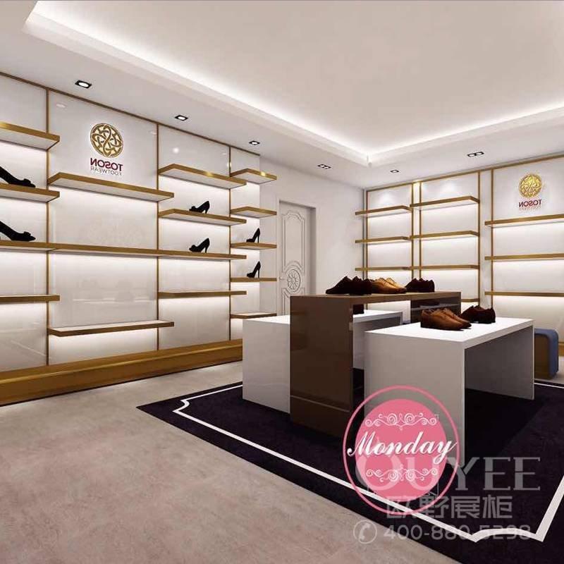 木质烤漆时尚女鞋展示柜