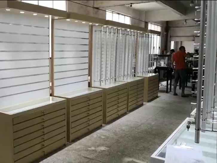 木纹眼镜展示柜