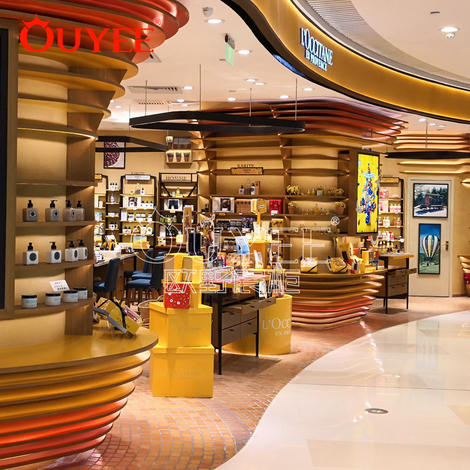 新款香水化妆品展示柜 时尚畅销木纹展示柜 工厂批发定做展示柜